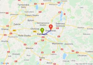 Trasa Katowice - Sosnowiec