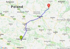 Trasa Częstochowa - Ostrów Mazowiecka