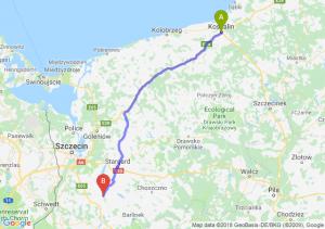 Trasa Koszalin - Pyrzyce