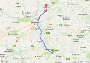 Trasa Bąkowiec - Wyszków