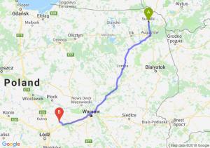 Trasa Suwałki - Łowicz