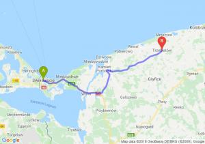 Trasa Świnoujście - Trzebiatów