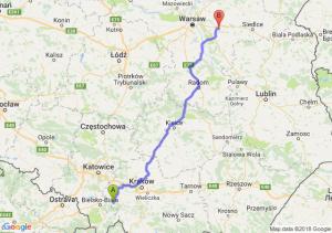 Trasa Andrychów - Mińsk Mazowiecki