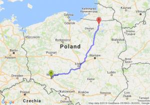 Trasa Biskupice Podgórne - Kętrzyn