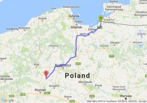 Trasa Braniewo - Wągrowiec