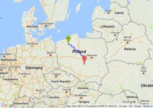 Szczecinek (zachodniopomorskie) - Srock (łódzkie)