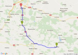 Szydłów (świętokrzyskie) - Morawica (świętokrzyskie) - Kielce -jagielońska 70