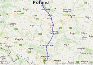 Trasa Pszczyna - Toruń