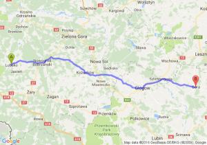 Lubsko (lubuskie) - Góra (dolnośląskie)