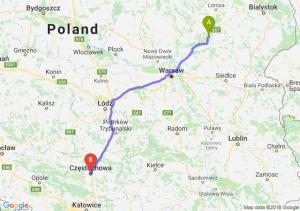 Trasa Ostrów Mazowiecka - Częstochowa
