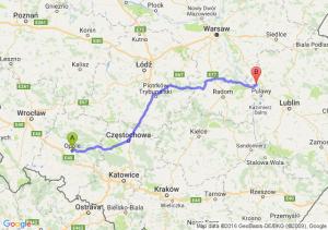 Opole (opolskie) - Dęblin (lubelskie)