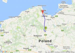 Grudziadz - Gdansk Port Lotniczy