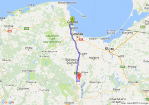 Gdynia (pomorskie) - Smętowo Graniczne (pomorskie)