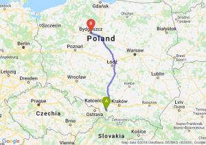 Trasa Bielsko-Biała - Bydgoszcz