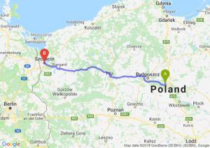 Trasa Toruń - Szczecin