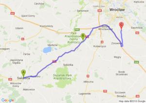 Świdnica (dolnośląskie) - Gniechowice (dolnośląskie) - Żerniki Wrocławskie (dolnośląskie)