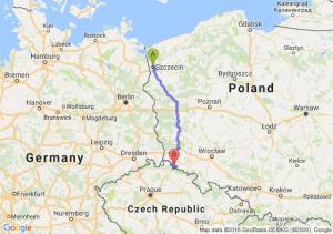Szczecin (zachodniopomorskie) - Jakuszyce (dolnośląskie)