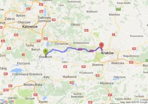 Trasa Oświęcim - Bronowice