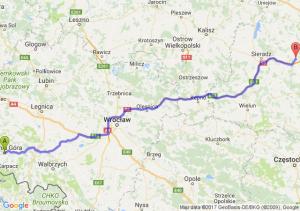 Trasa Jelenia Góra - Łask