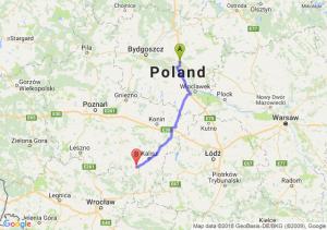 Trasa Lubicz Dolny - Ostrów Wielkopolski
