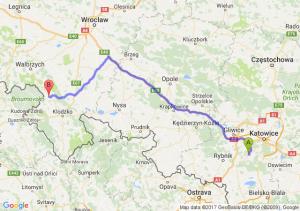 Łaziska Górne (śląskie) - Nowa Ruda (dolnośląskie)