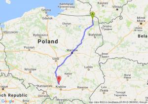 Suwałki (podlaskie) - Wolbrom (małopolskie)