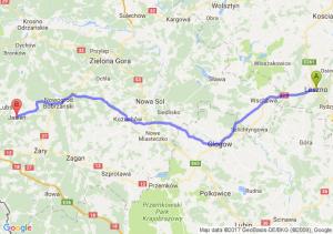 Leszno (wielkopolskie) - Jasień (lubuskie)