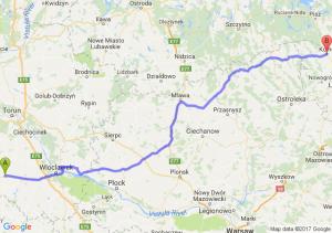 Radziejów (kujawsko-pomorskie) - Kolno (podlaskie)