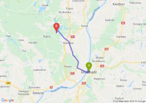 Trasa Grudziądz - Warlubie