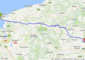 Międzyzdroje (zachodniopomorskie) - Koronowo (kujawsko-pomorskie)