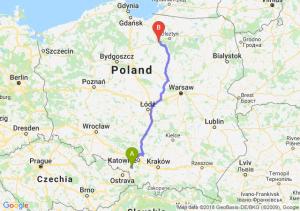 Trasa Żory - Ostróda