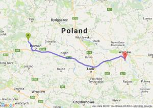 Szamotuły (wielkopolskie) - Piaseczno (mazowieckie)