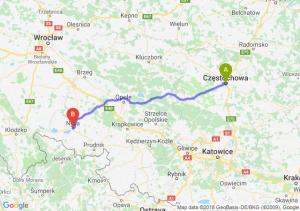 Trasa Częstochowa - Nysa