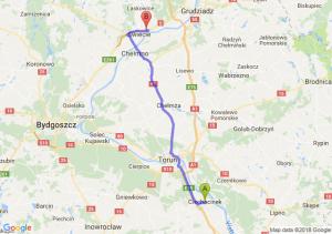 Trasa Ciechocinek - Morsk