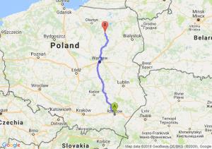 Trasa Rzeszów - Myszyniec