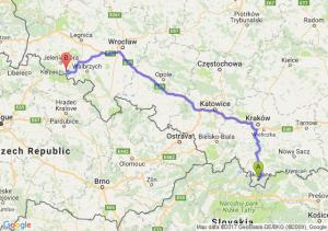 Zakopane (małopolskie) - Kowary (dolnośląskie)