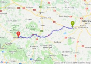 Trasa Kąty Wrocławskie - Jelenia Góra