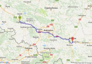 Trasa Dąbrówka Górna - Łagiewniki