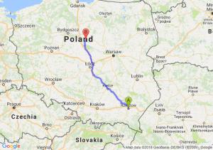 Trasa Rzeszów - Lipno