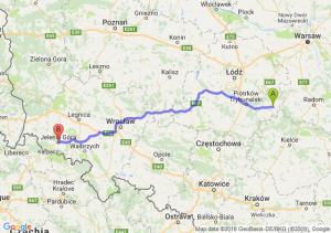 Trasa Opoczno - Jelenia Góra