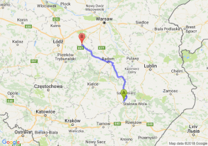Trasa Tarnobrzeg - Rawa Mazowiecka