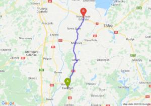 Trasa Kwidzyn - Nowy Dwór Gdański