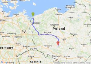Trasa Kamień - Wieluń