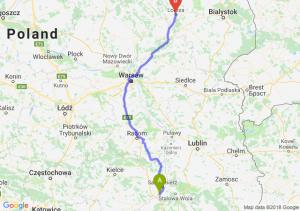 Trasa Tarnobrzeg - Łomża