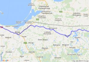 Pruszcz Gdański (pomorskie) - Gołdap (warmińsko-mazurskie)