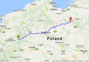 Trasa Drezdenko - Ostróda