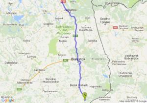 Trasa Kleszczele - Raczki