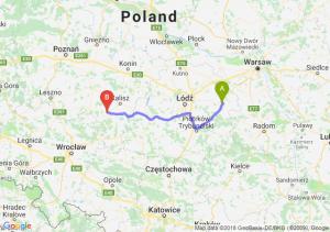 Trasa Rawa Mazowiecka - Ostrów Wielkopolski