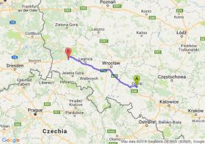Trasa Opole - Bolesławiec