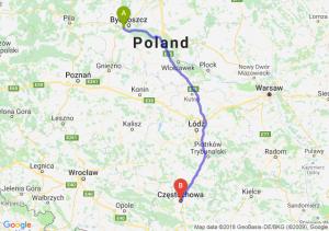 Trasa Białe Błota - Częstochowa